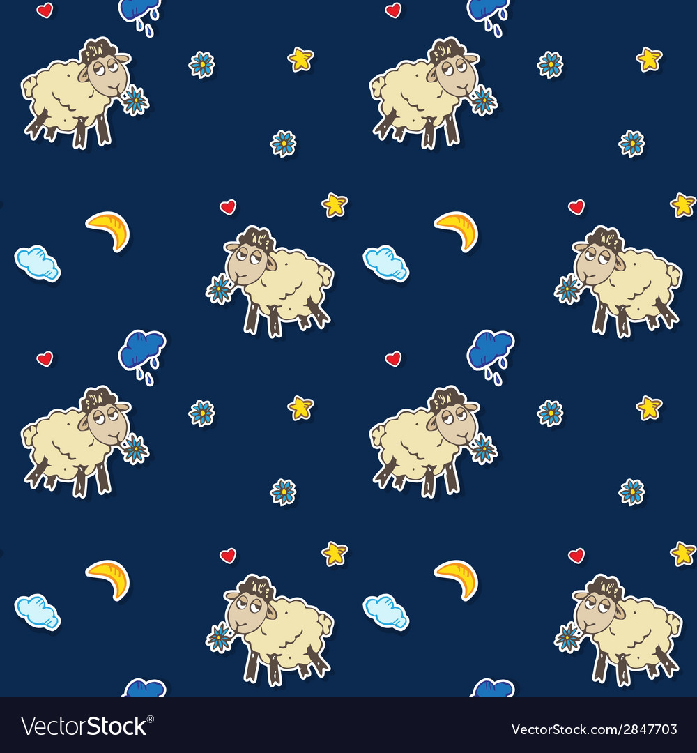 Seamless sheep pattern vector   Price: 1 Credit (USD $1)