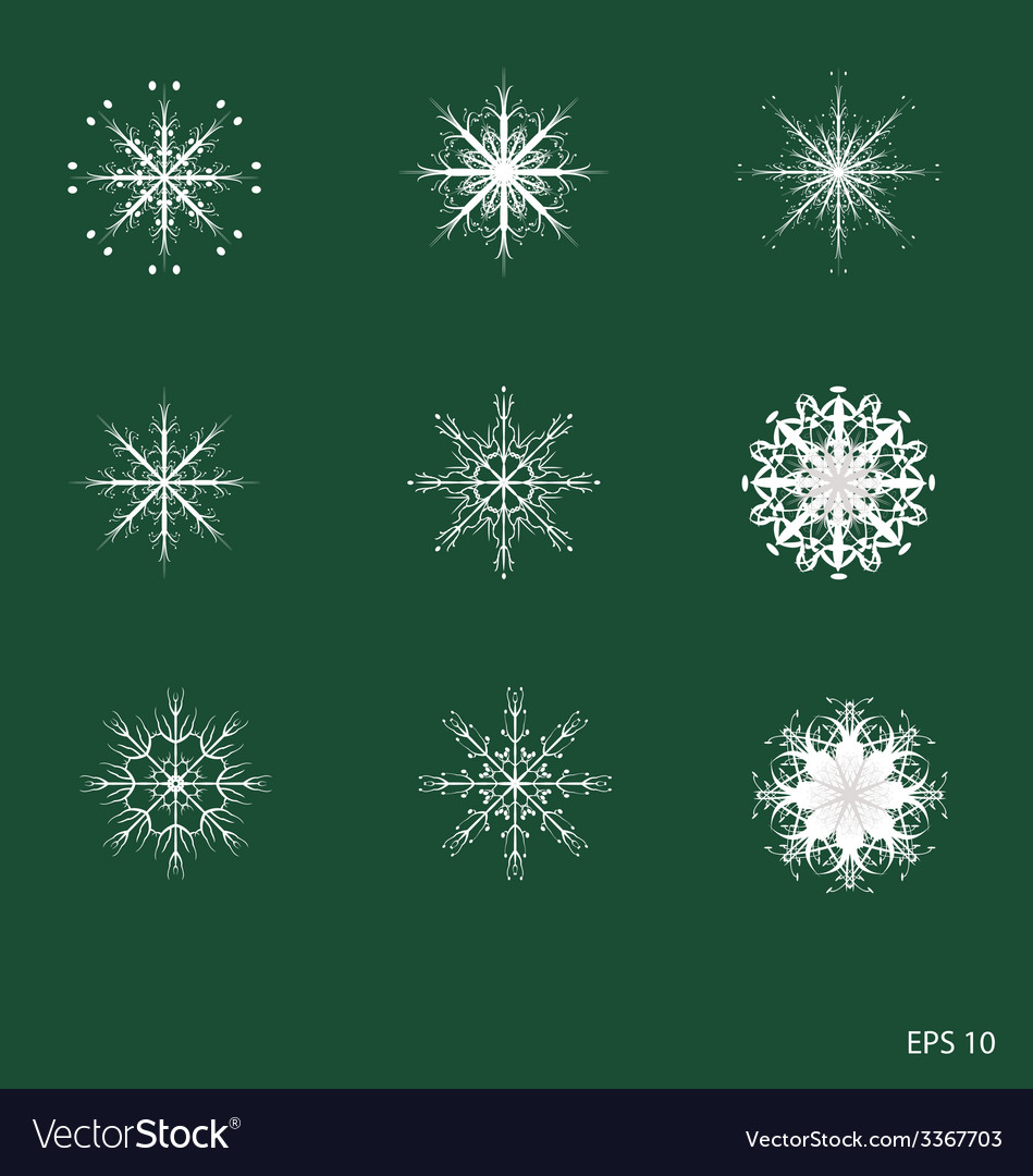 Snowflakes for your design vector | Price: 1 Credit (USD $1)