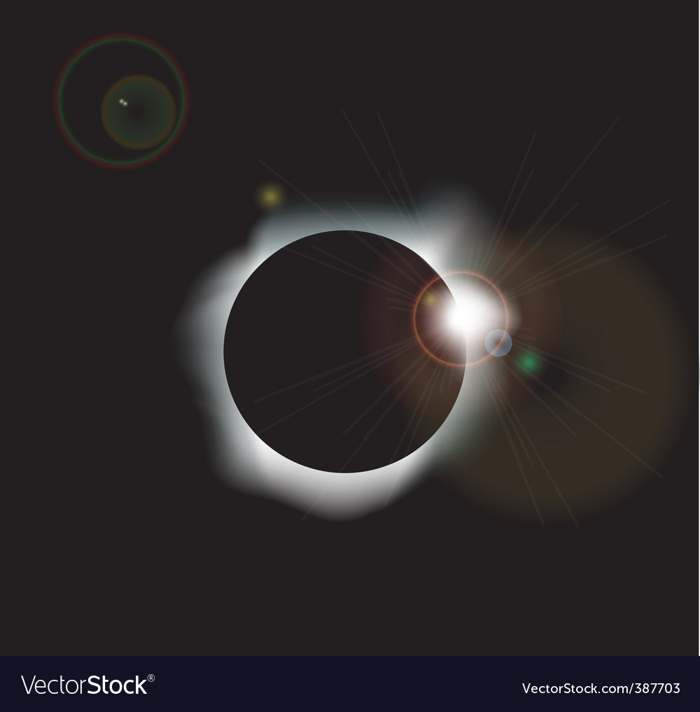 Solar eclipse background vector | Price: 1 Credit (USD $1)