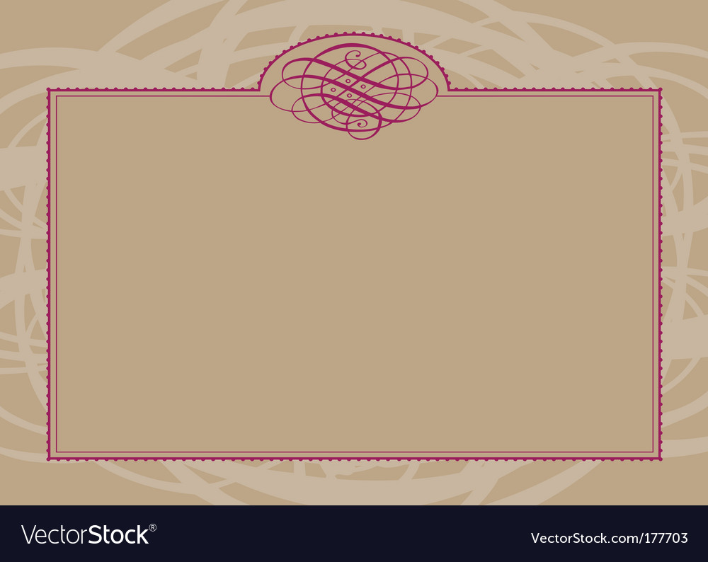 Swirl ornament and frame vector | Price: 1 Credit (USD $1)