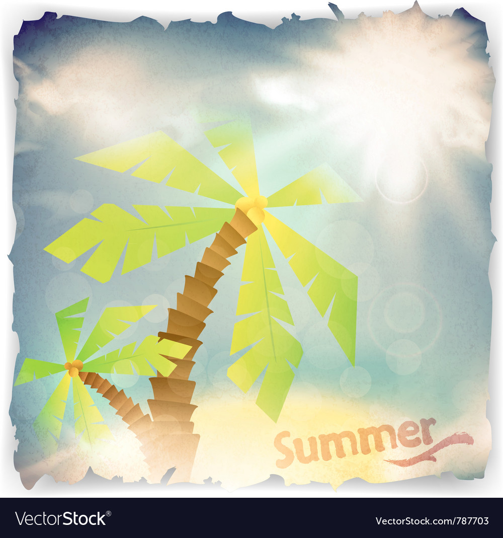 Vintage grunge summer background vector | Price: 1 Credit (USD $1)