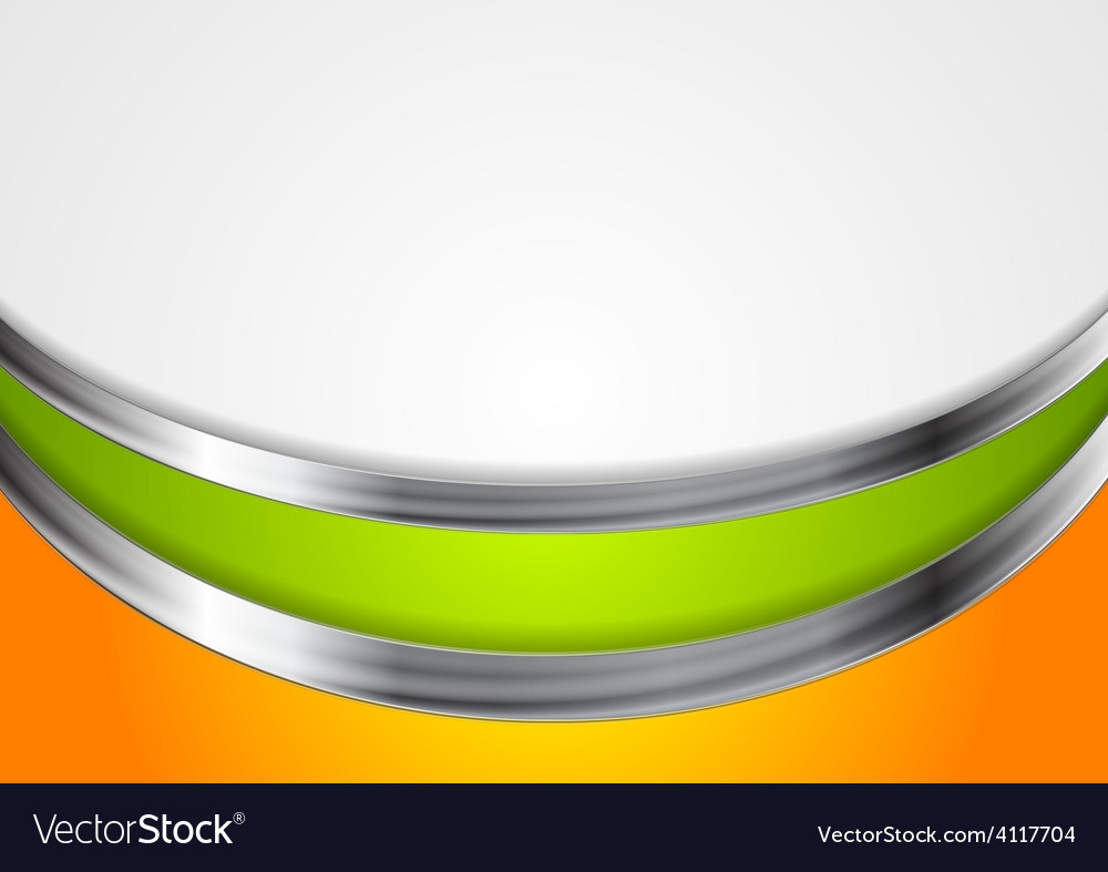 Abstract corporate background with metal waves vector | Price: 1 Credit (USD $1)