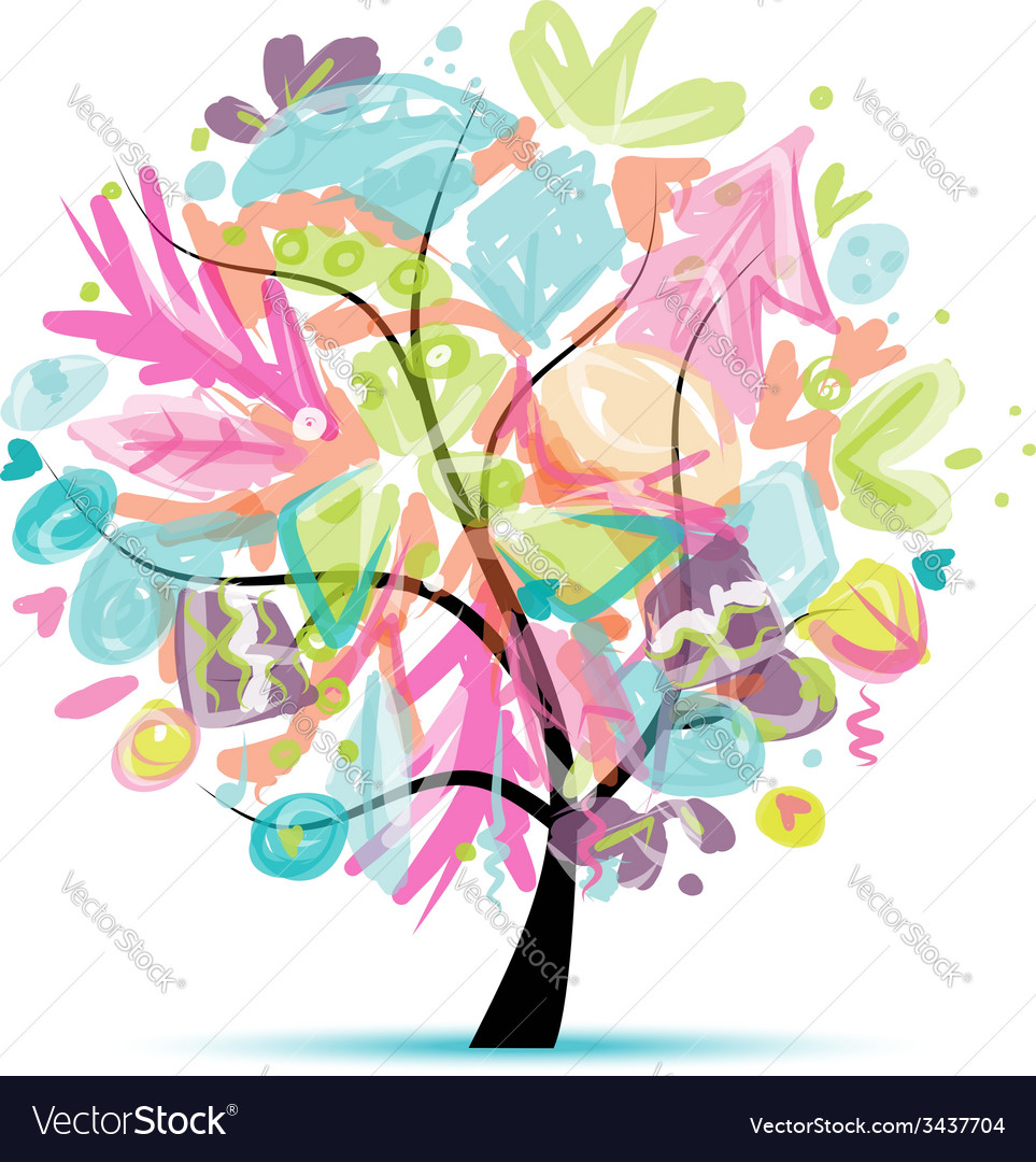Abstract tree floral for your design vector | Price: 1 Credit (USD $1)