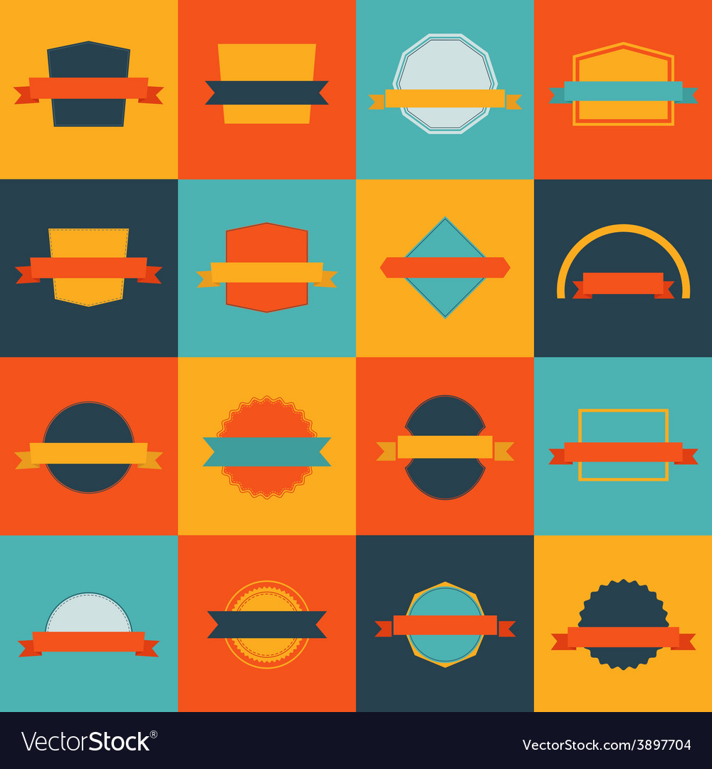 Flat labels vector | Price: 3 Credit (USD $3)