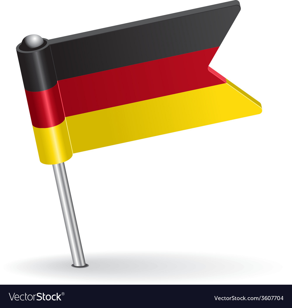 Germany pin icon flag vector | Price: 1 Credit (USD $1)