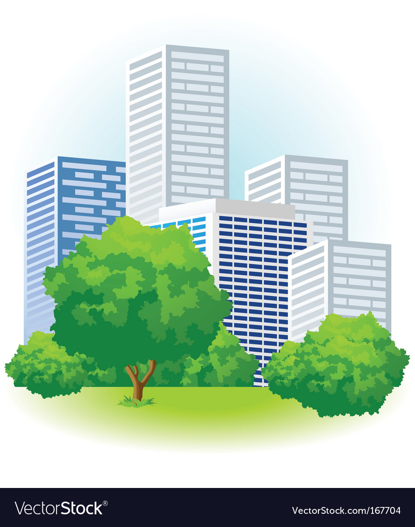Green city vector   Price: 3 Credit (USD $3)