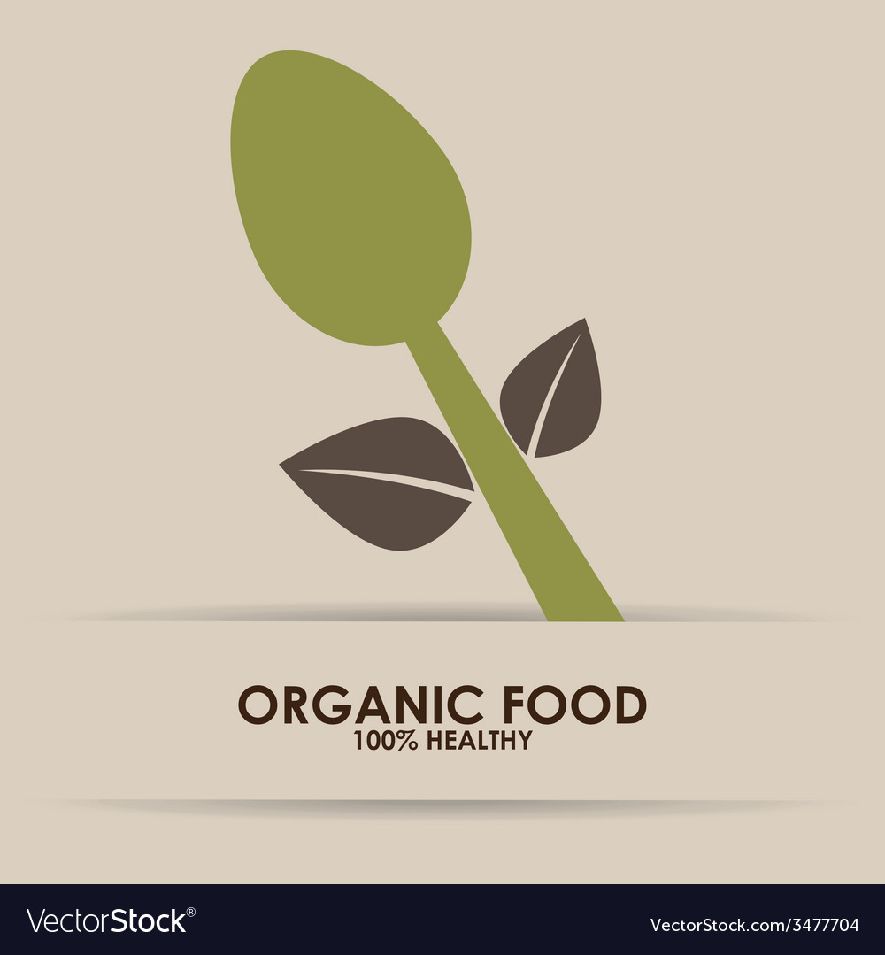 Organic food design vector   Price: 1 Credit (USD $1)