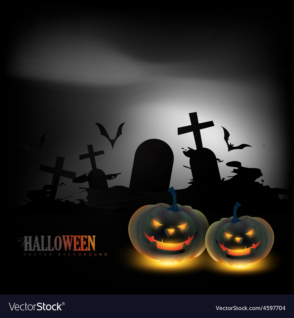 Scary halloween background vector | Price: 3 Credit (USD $3)