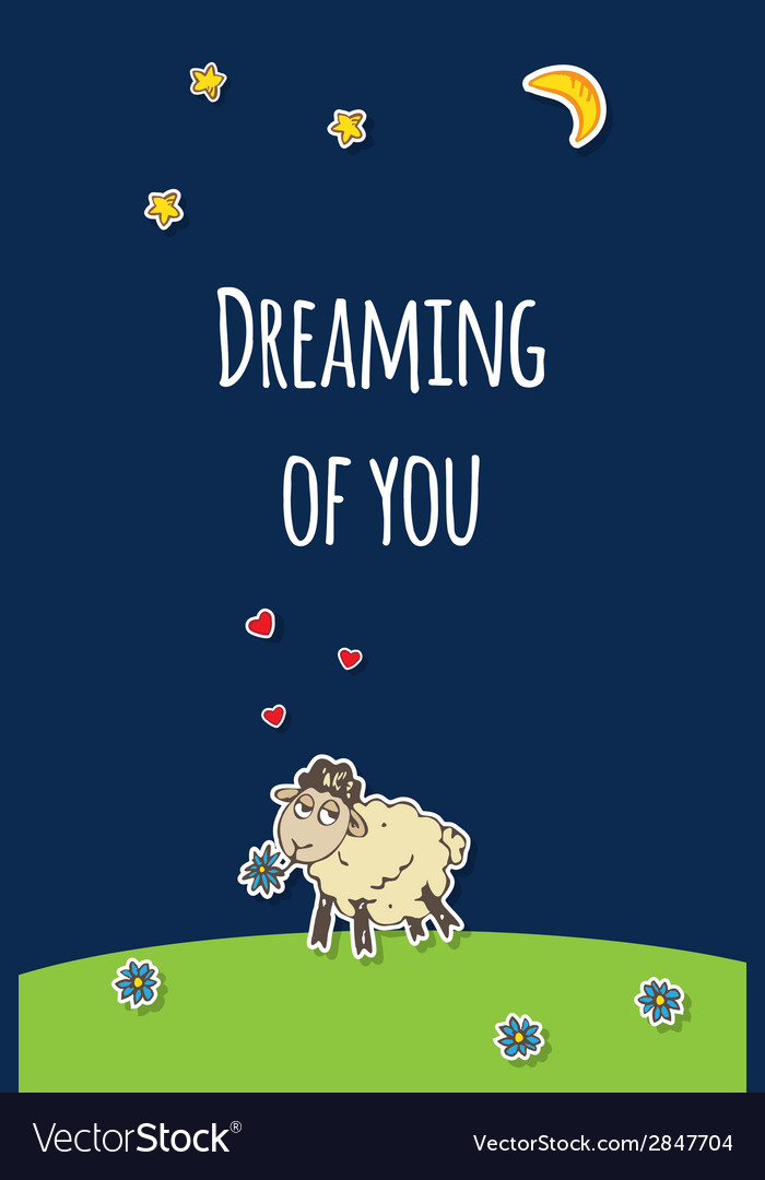 Sheep greeting card vector | Price: 1 Credit (USD $1)