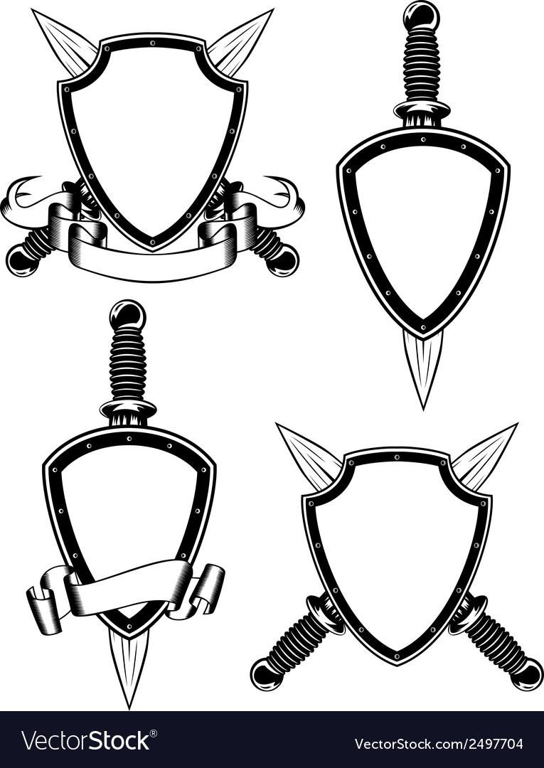 Shield and daggers vector | Price: 1 Credit (USD $1)