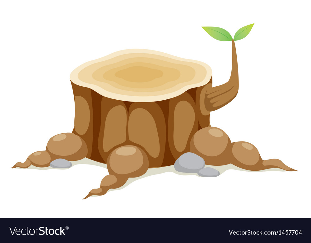 Tree stump vector | Price: 1 Credit (USD $1)