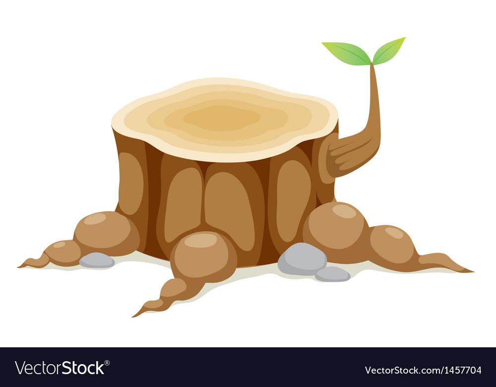Tree stump vector | Price: 1 Credit (USD $1)