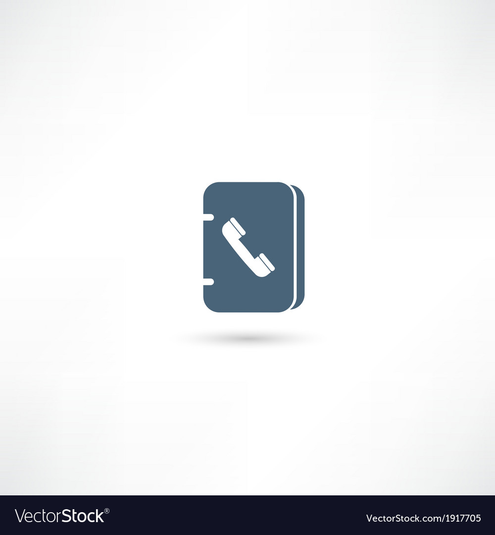 Address book icon vector | Price: 1 Credit (USD $1)