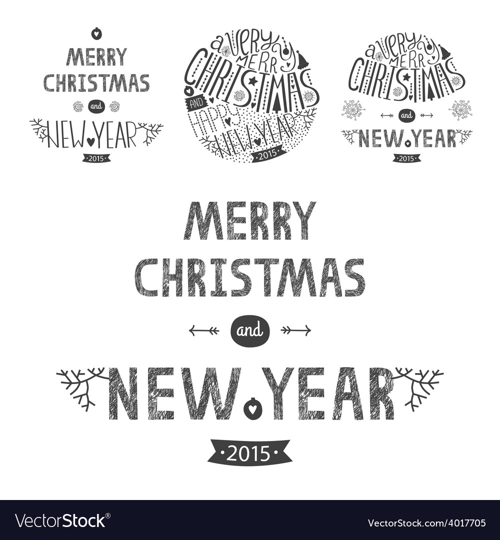 Christmas greeting card set vector | Price: 1 Credit (USD $1)
