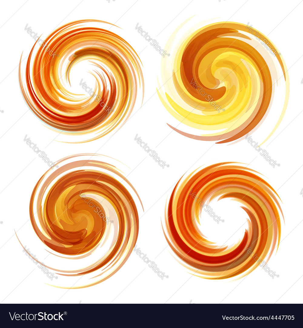 Colorful abstract icon set dynamic flow vector   Price: 1 Credit (USD $1)