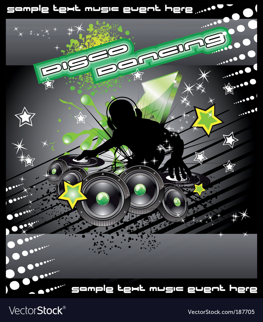 Disk jockey music background vector | Price: 3 Credit (USD $3)