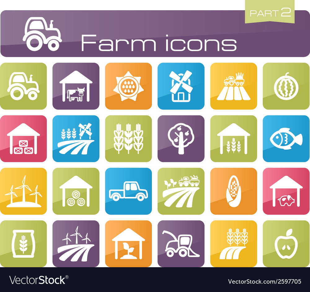 Farm icons part 2 vector | Price: 1 Credit (USD $1)