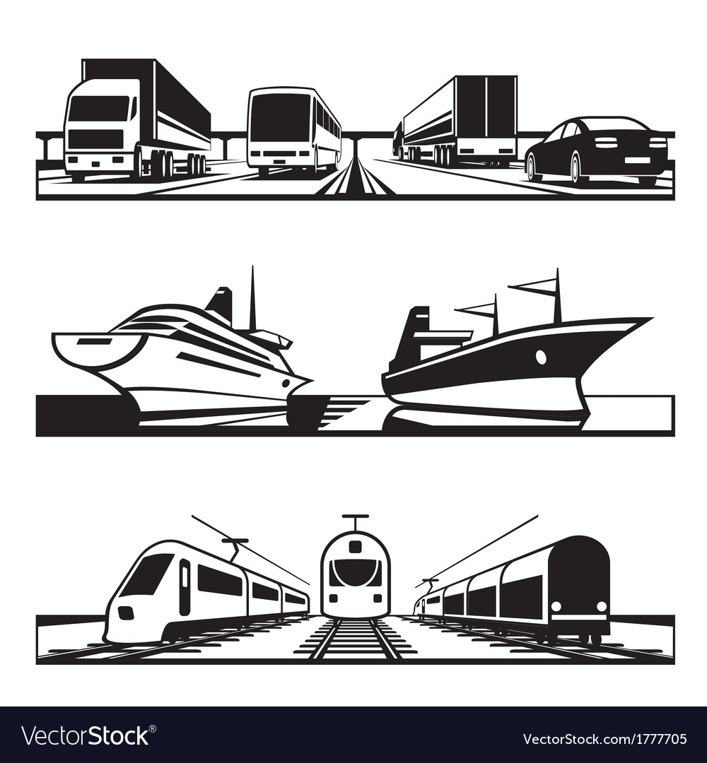 Global transportation set vector | Price: 1 Credit (USD $1)