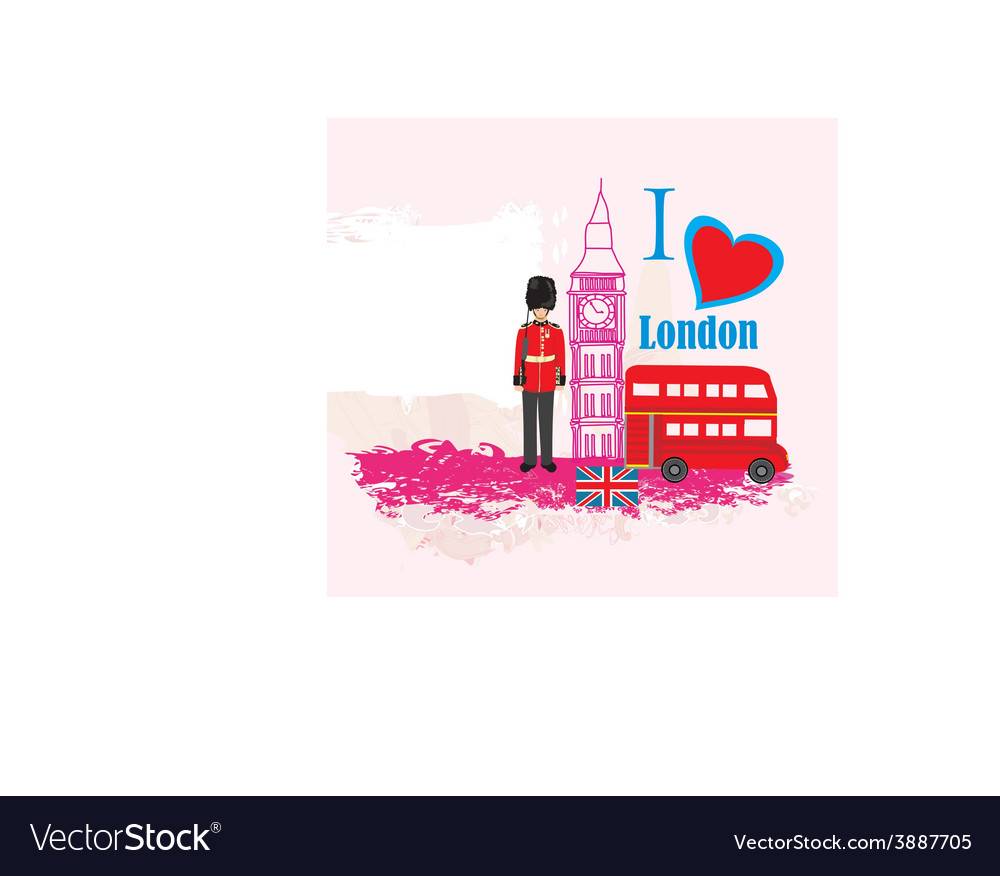 Grunge frame with icons of london vector | Price: 1 Credit (USD $1)
