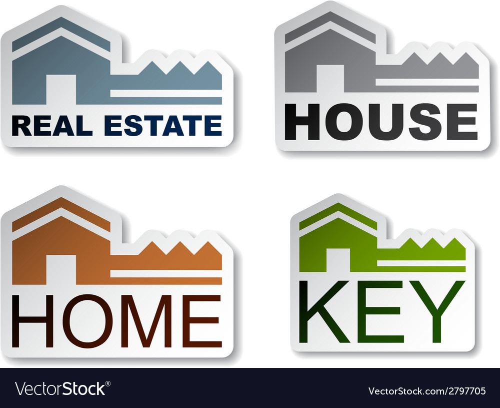 House key real estate stickers vector | Price: 1 Credit (USD $1)