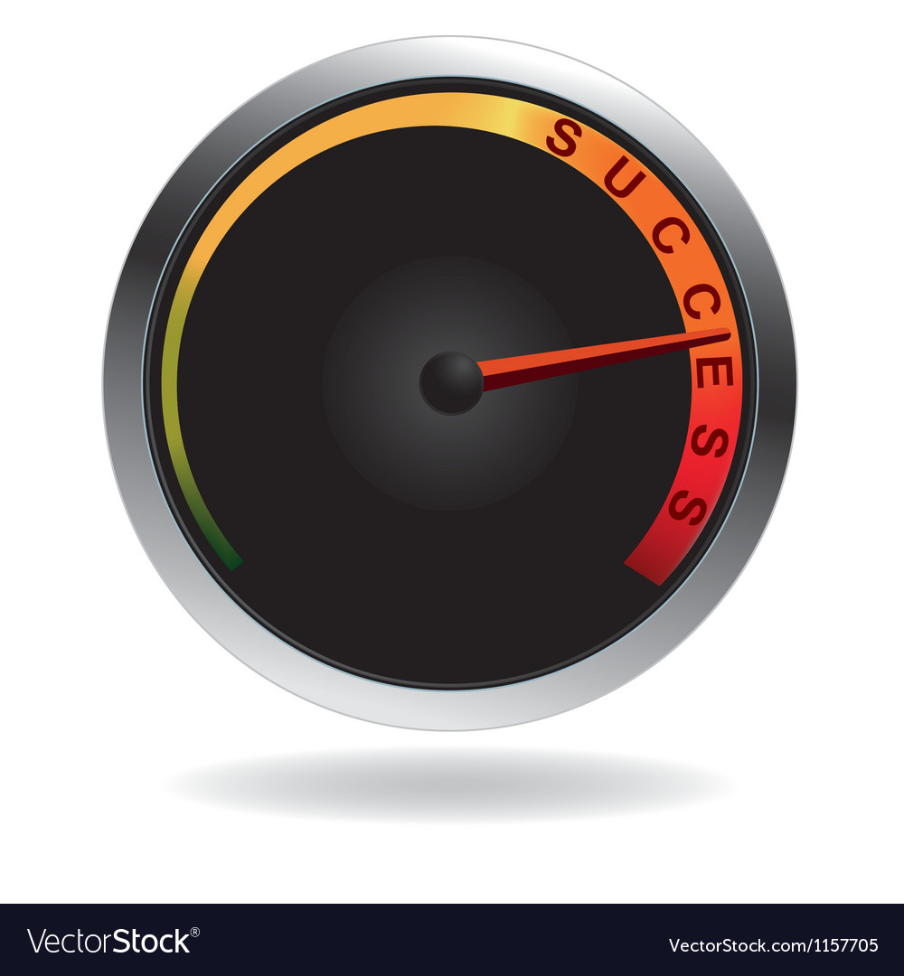 Speedometer with red needle vector | Price: 1 Credit (USD $1)