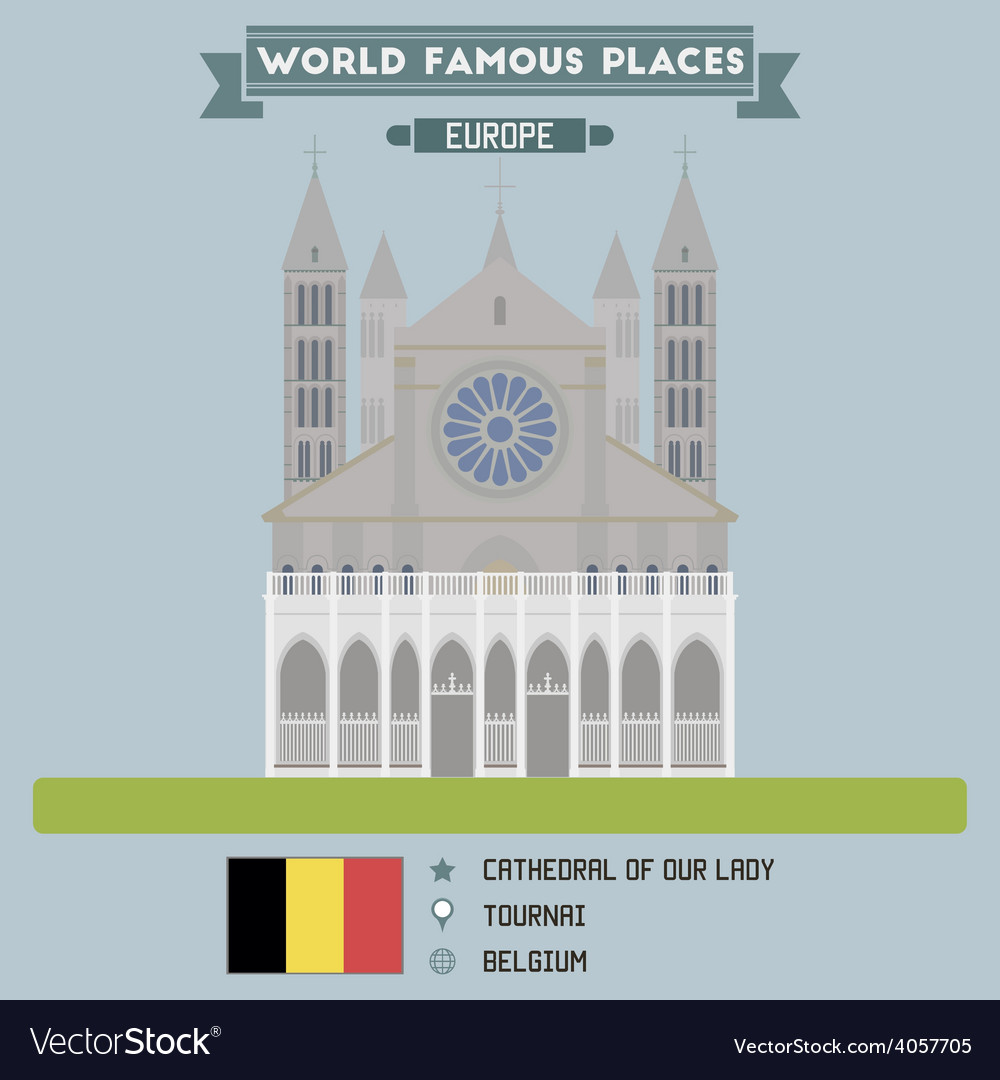 Tournai cathedral vector | Price: 1 Credit (USD $1)