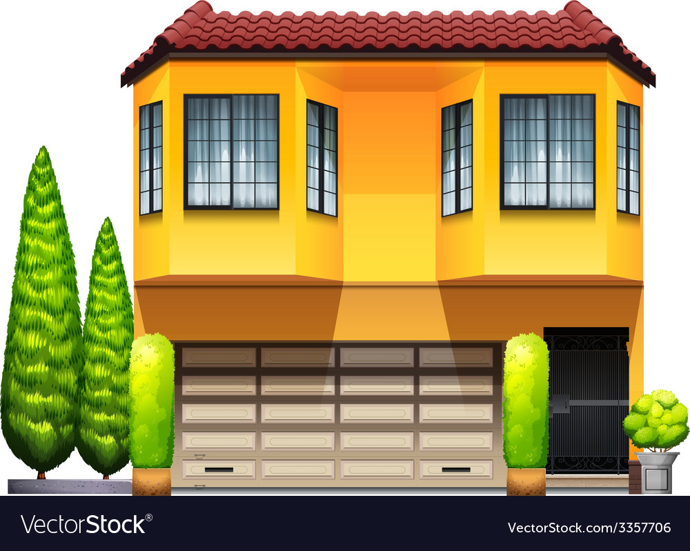 A big yellow commercial property vector | Price: 1 Credit (USD $1)