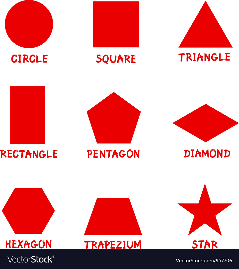 Basic geometric shapes with captions vector | Price: 1 Credit (USD $1)