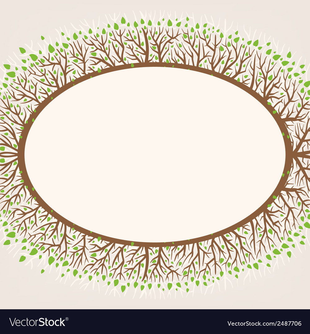 Branches frame vector | Price: 1 Credit (USD $1)