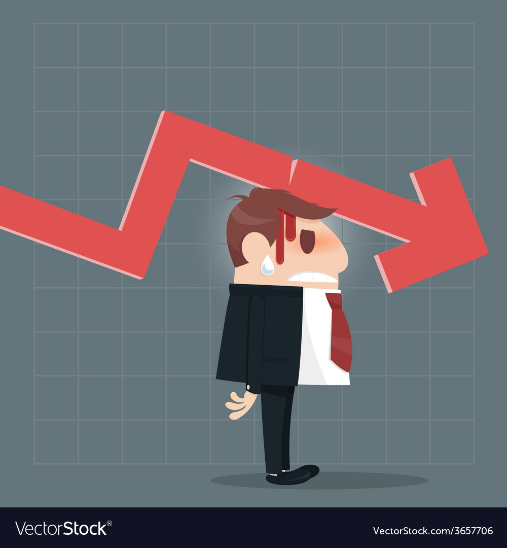 Business failure vector | Price: 1 Credit (USD $1)