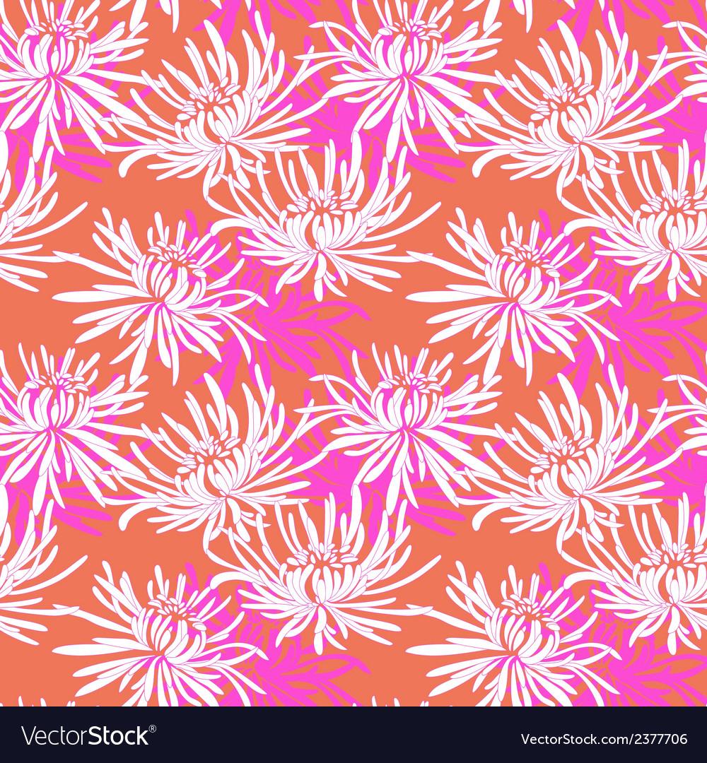 Hand drawn seamless pattern with chrysanthemum vector   Price: 1 Credit (USD $1)