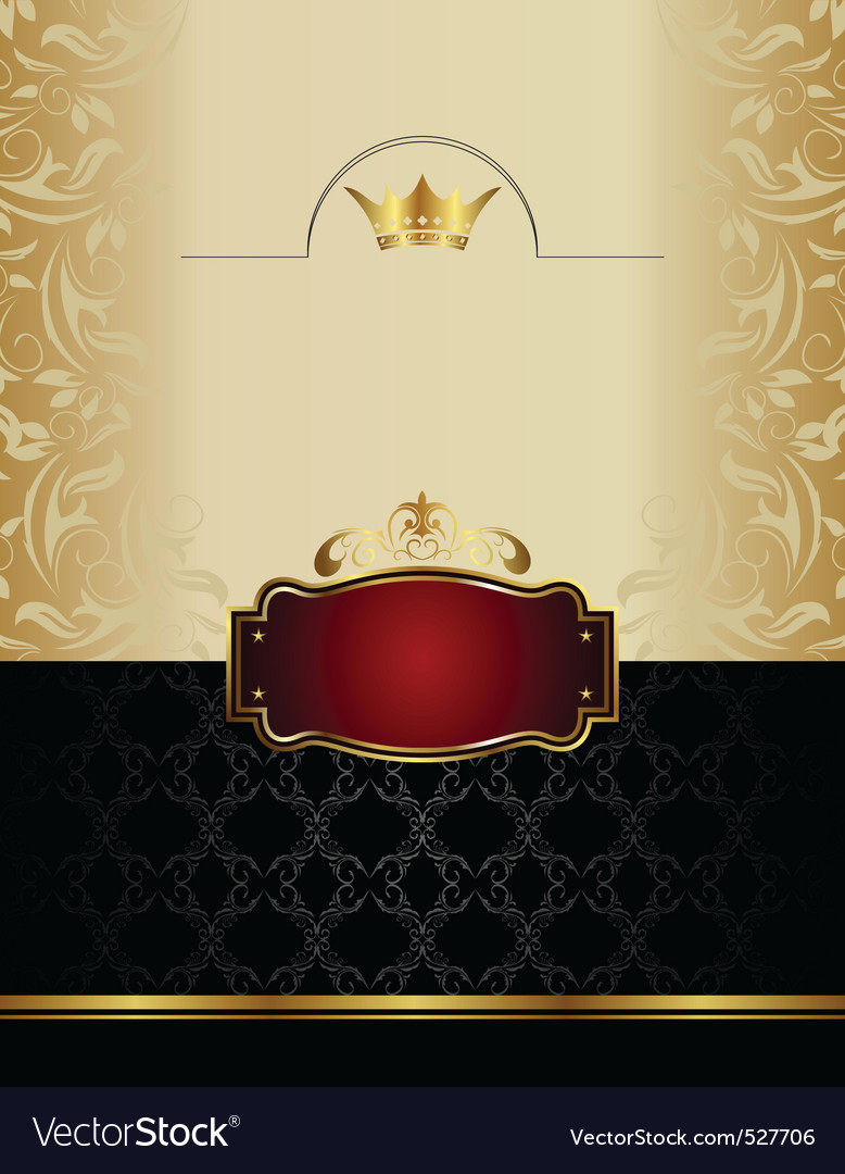 Luxury gold wine label with emblem vector | Price: 1 Credit (USD $1)