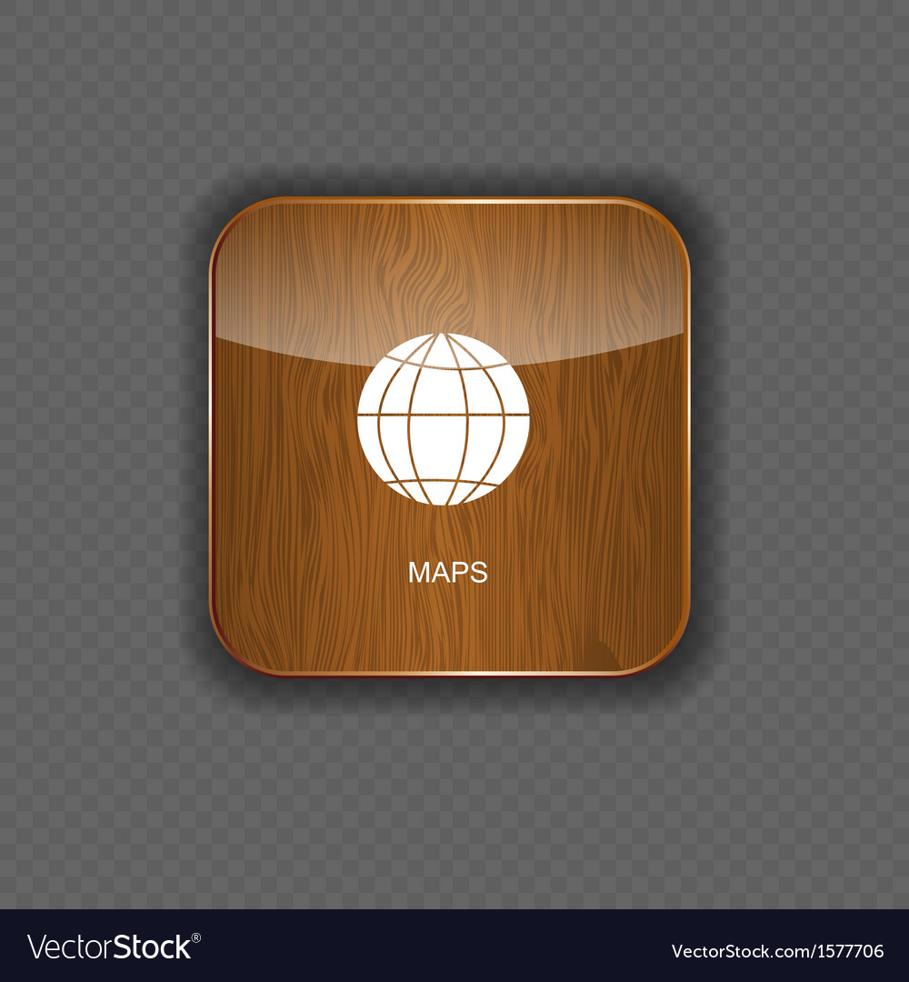 Map wood application icons vector | Price: 1 Credit (USD $1)