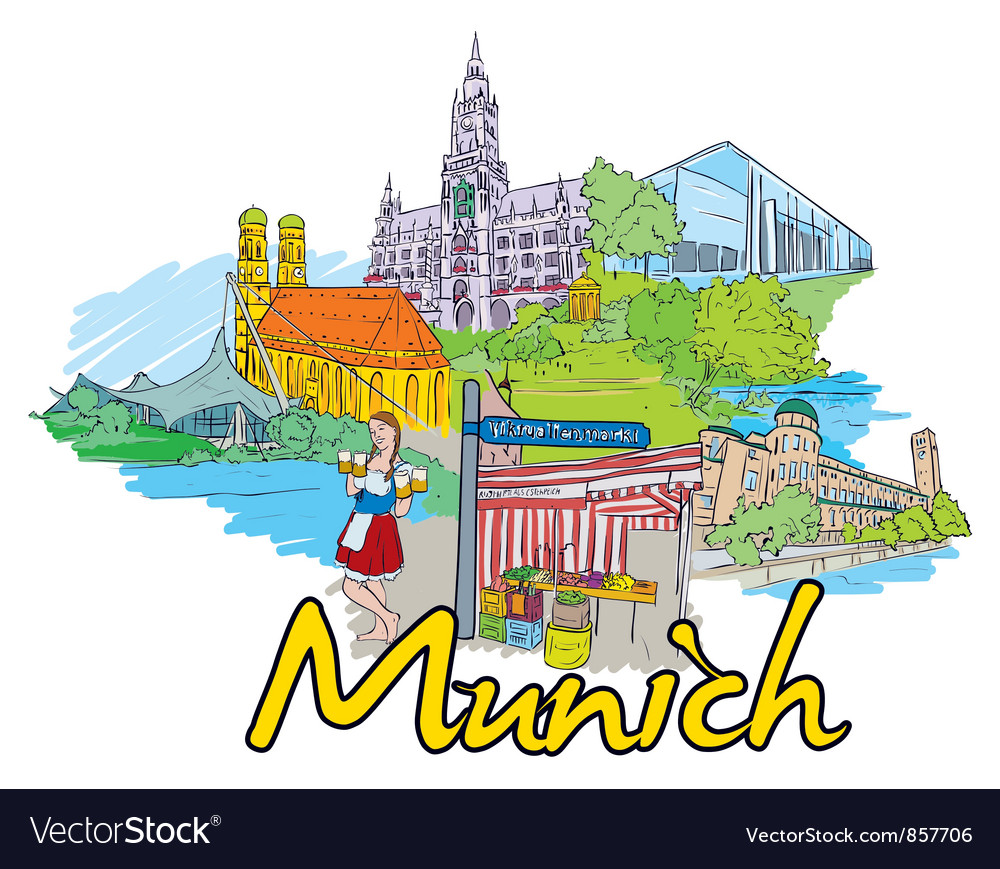 Munich doodles vector | Price: 3 Credit (USD $3)