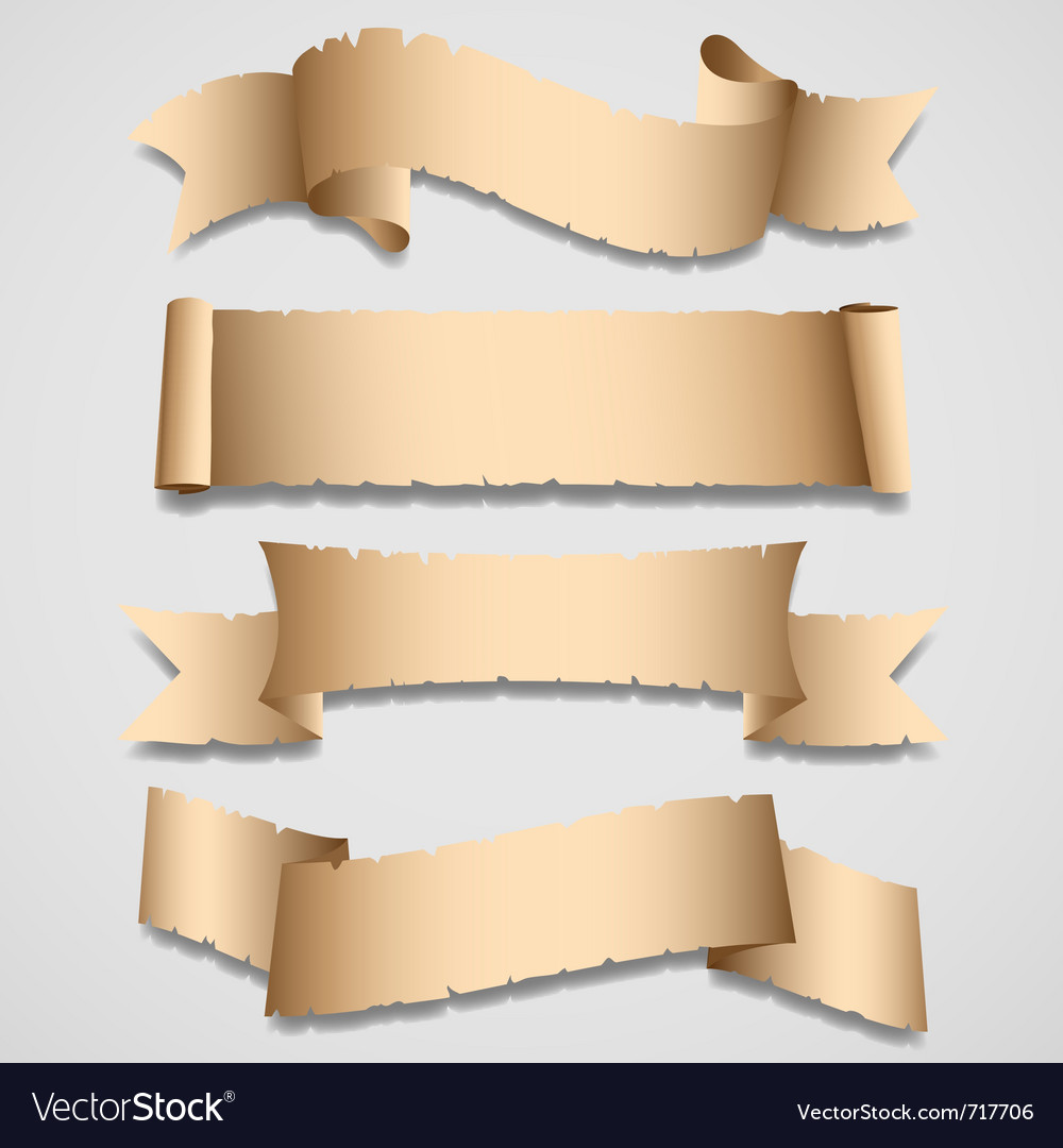 Old banners and ribbons set vector | Price: 1 Credit (USD $1)