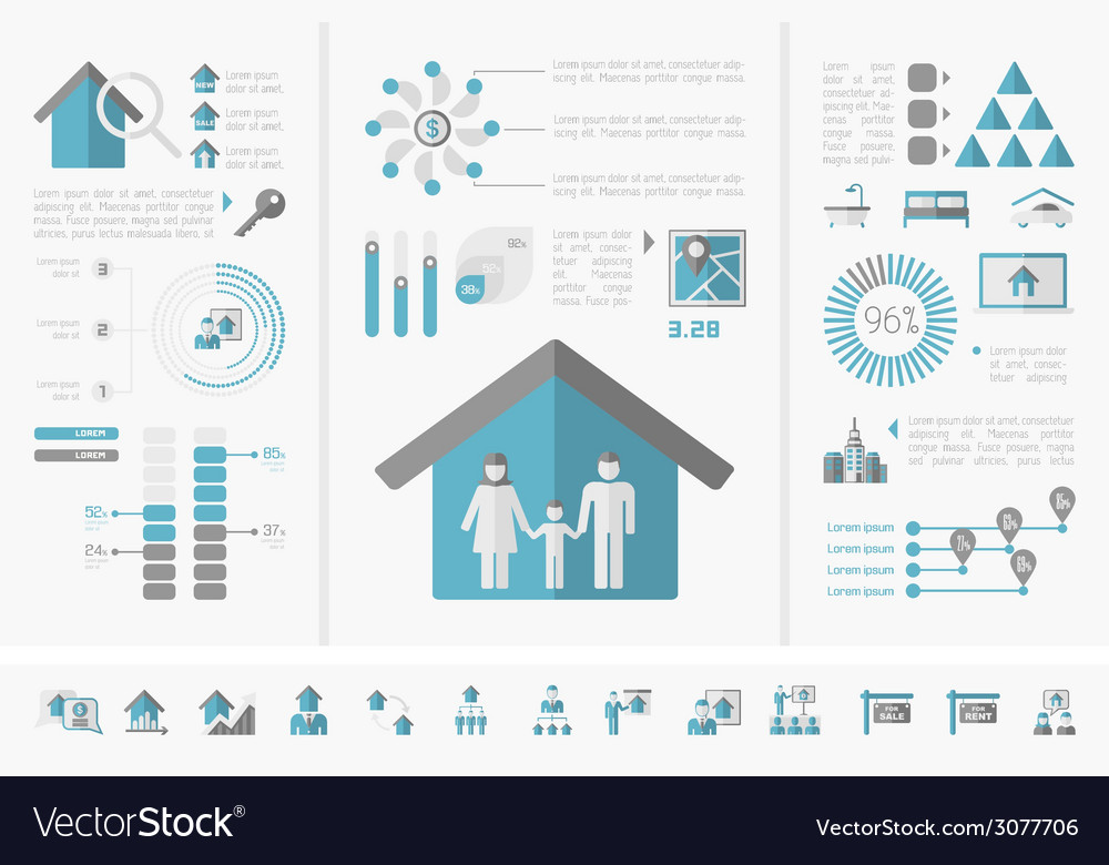 Real estate infographics vector   Price: 1 Credit (USD $1)