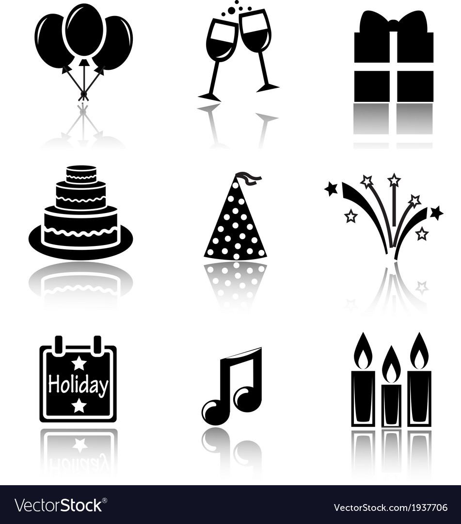 Set of black icons holidays vector | Price: 1 Credit (USD $1)