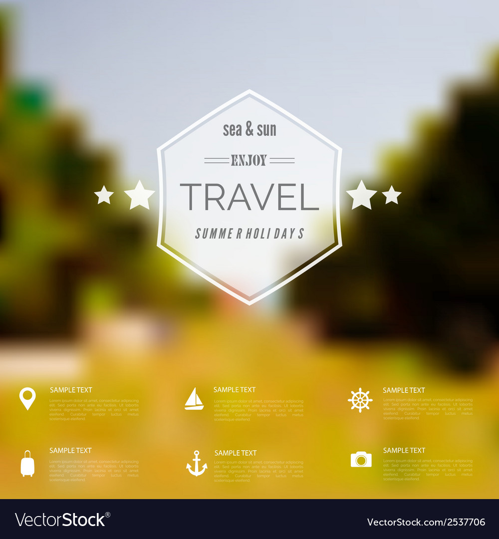 Summer abstract blurreddefocused background with vector | Price: 1 Credit (USD $1)
