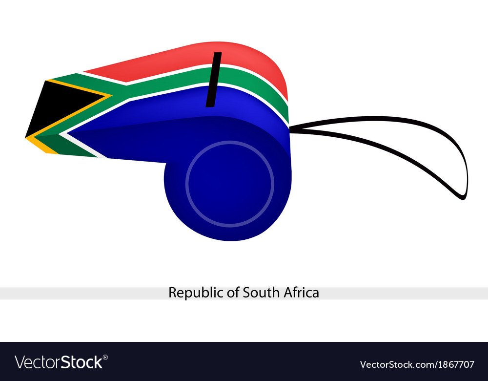 A whistle of republic of south africa vector | Price: 1 Credit (USD $1)