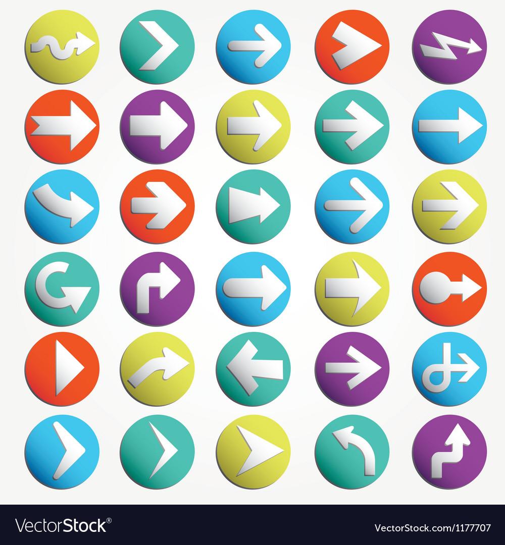 Arrow sign icon set vector | Price: 1 Credit (USD $1)