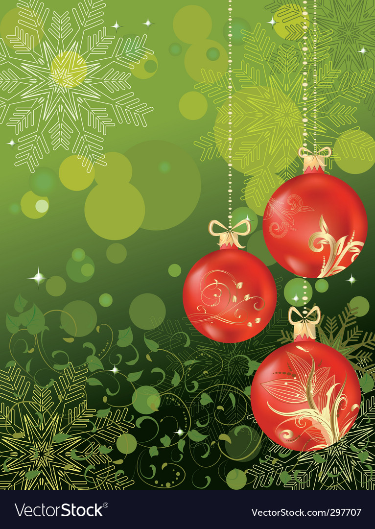 Christmas background with balls vector | Price: 1 Credit (USD $1)