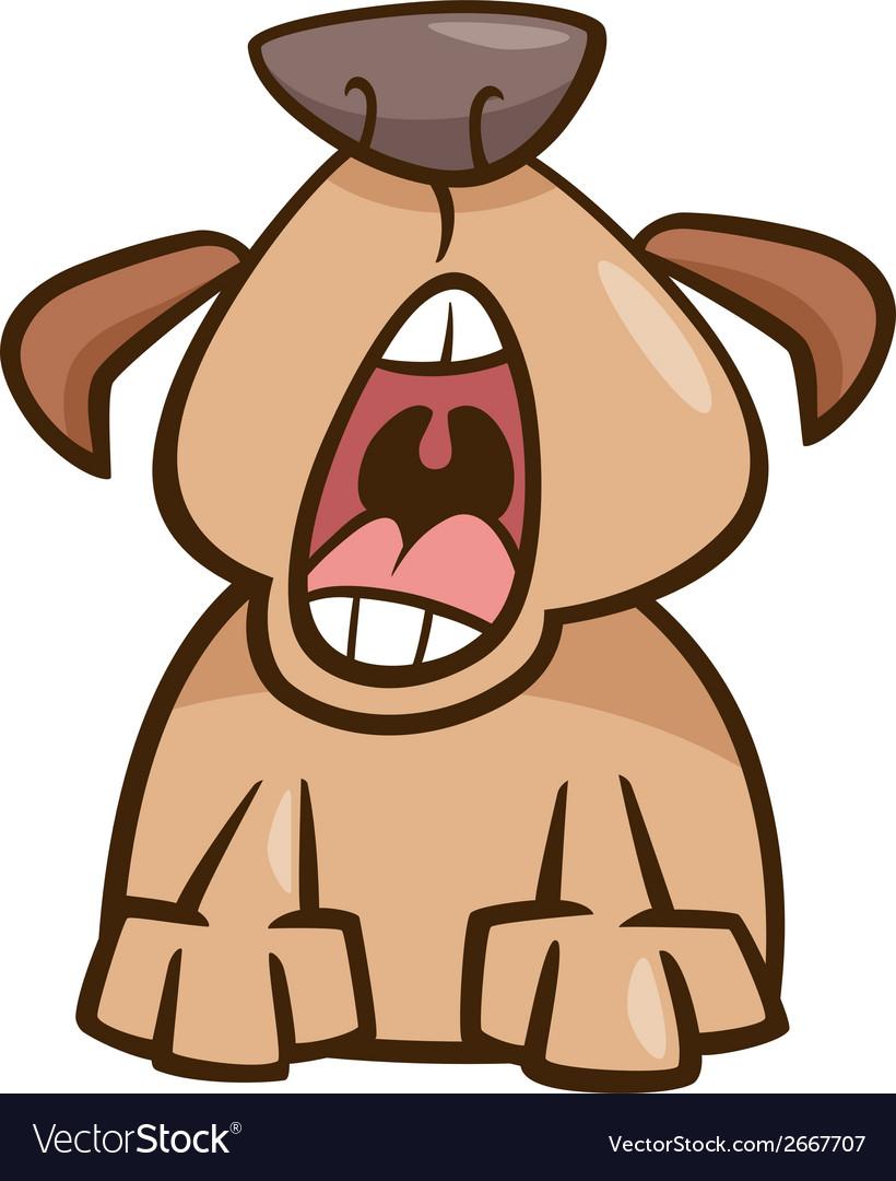Dog yawn cartoon vector | Price: 1 Credit (USD $1)