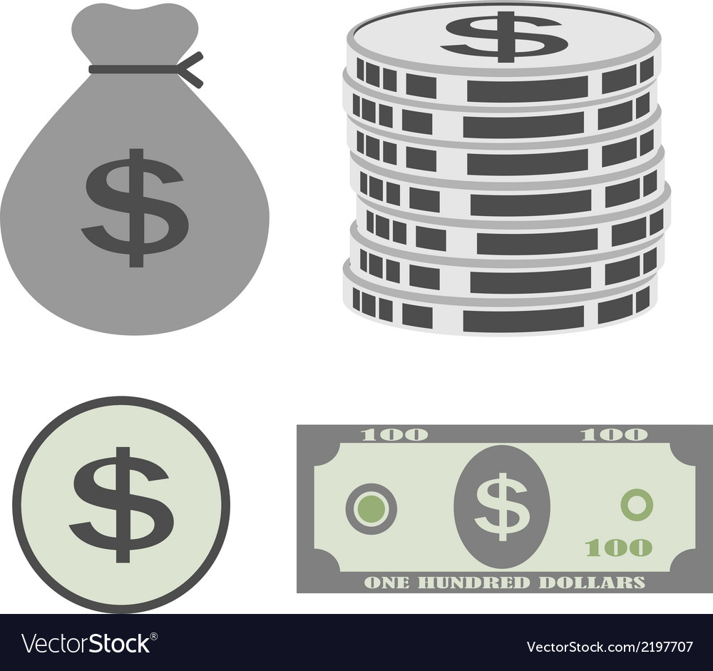 Dollar set vector | Price: 1 Credit (USD $1)