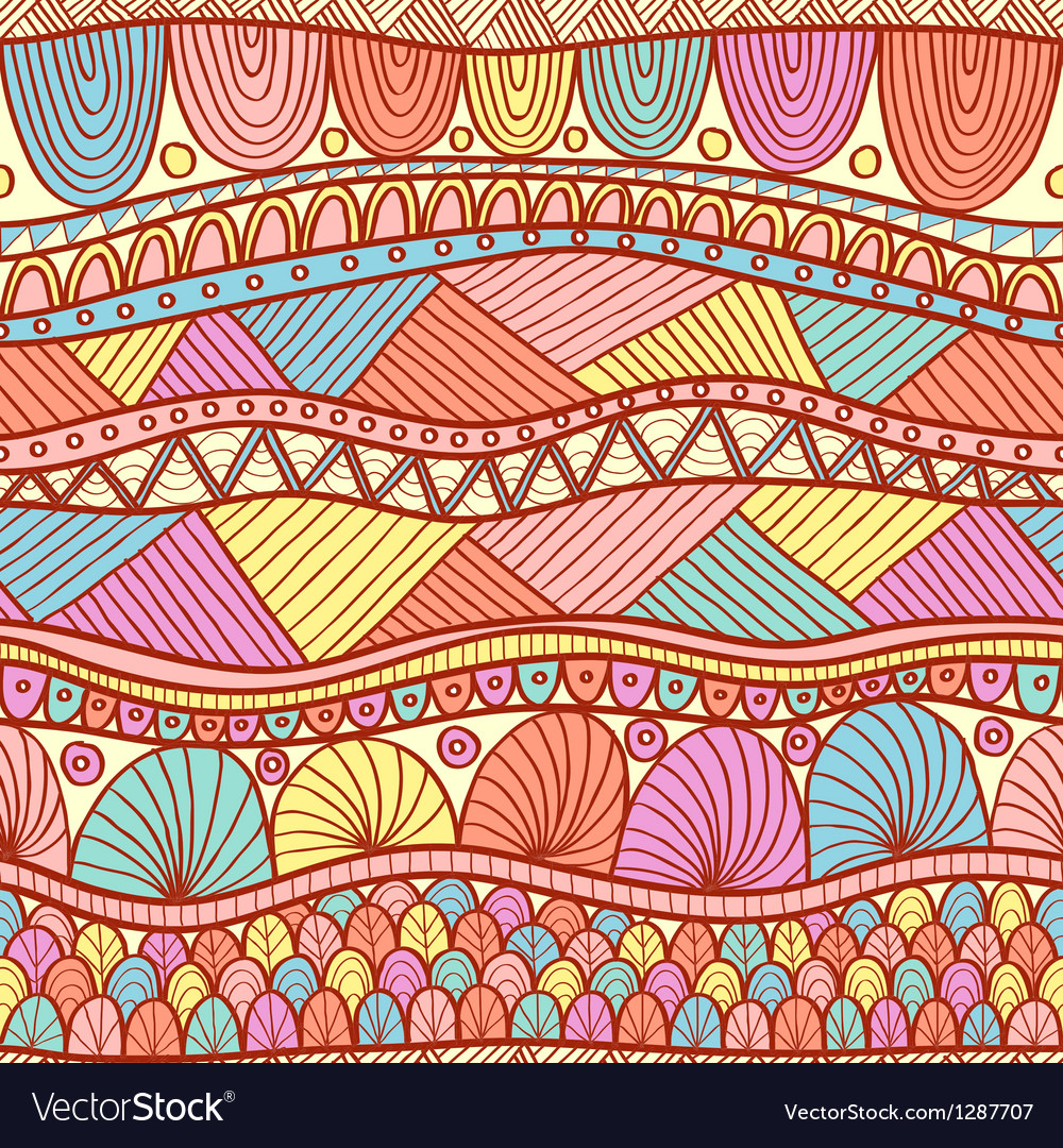 Ethnic pattern vector | Price: 3 Credit (USD $3)