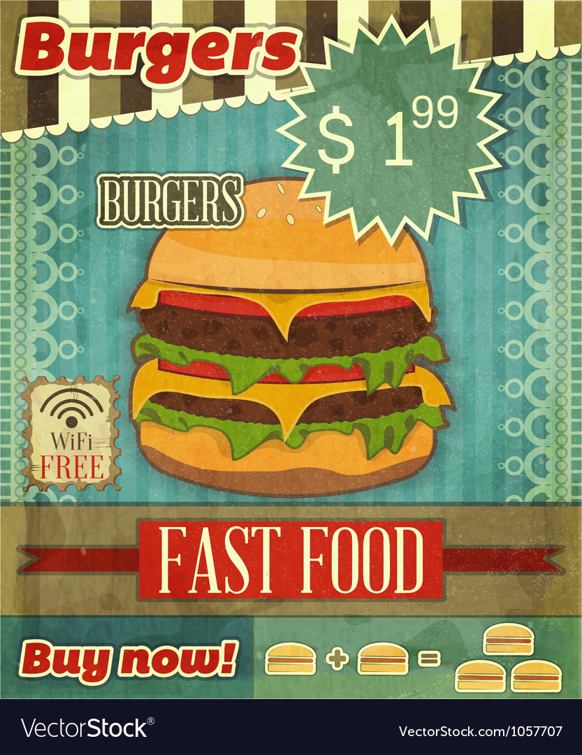 Fast food menu vector | Price: 3 Credit (USD $3)