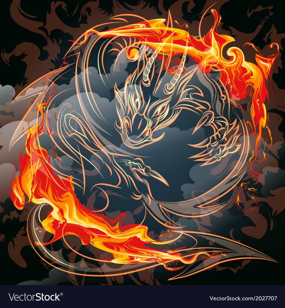 The fire gragon vector | Price: 1 Credit (USD $1)