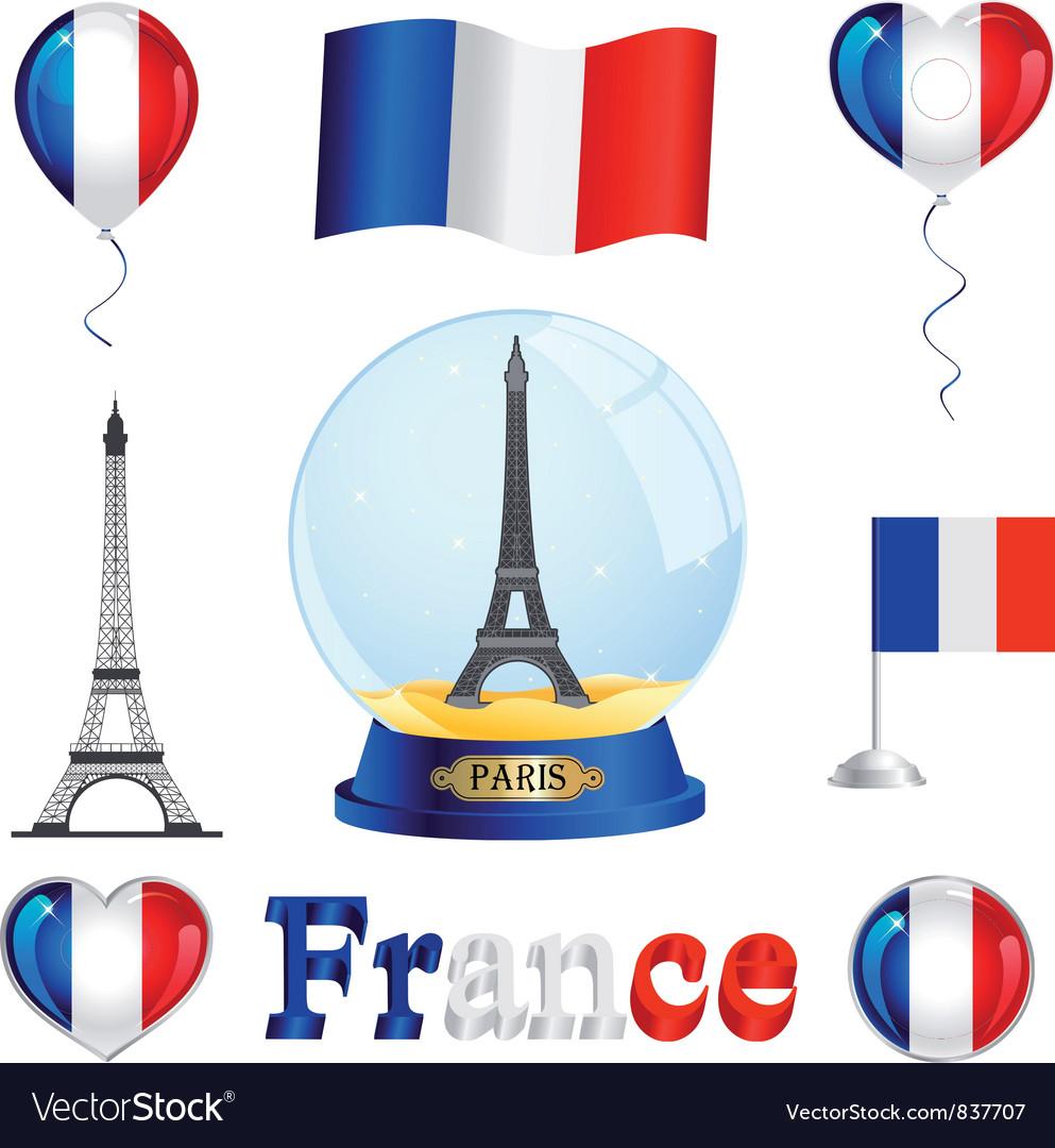 France set vector | Price: 1 Credit (USD $1)