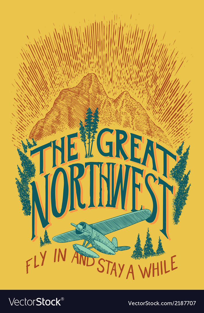 The great northwest vector | Price: 1 Credit (USD $1)