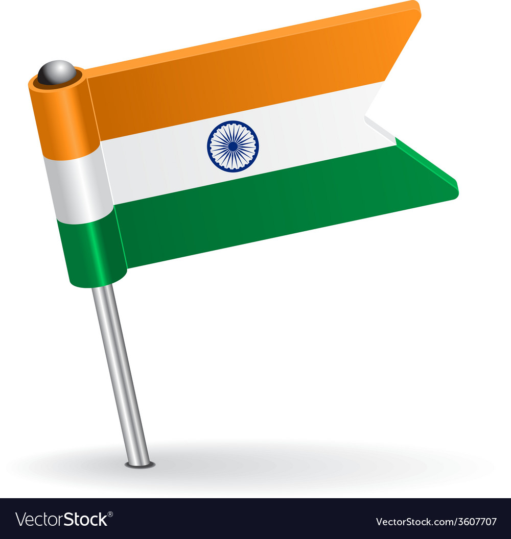 Indian pin icon flag vector | Price: 1 Credit (USD $1)