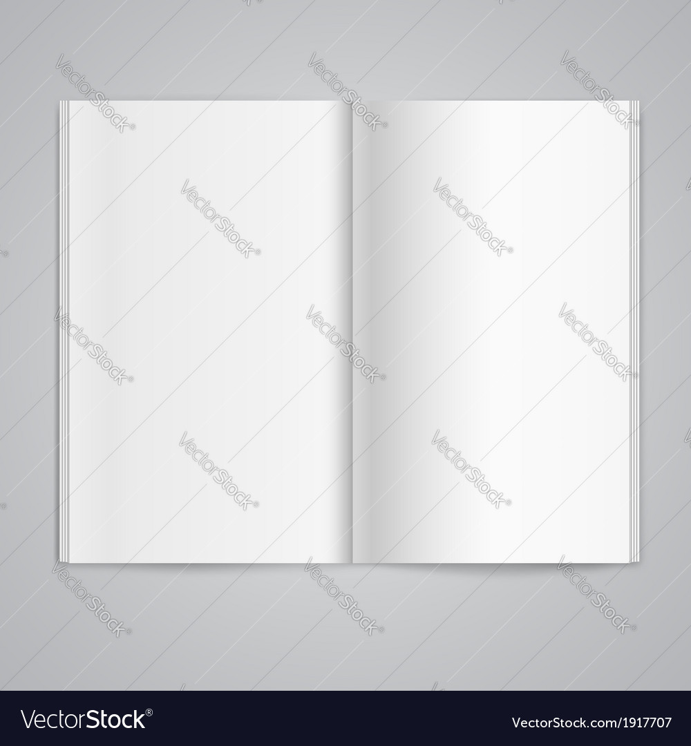 Magazine double page spread with blank pages vector | Price: 1 Credit (USD $1)